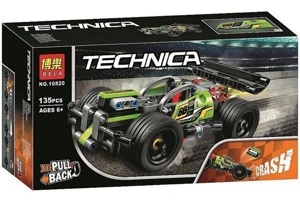 Конструктор Bela Technica 10820 (72) Гоночный автомобиль, 135 деталей [Коробка]