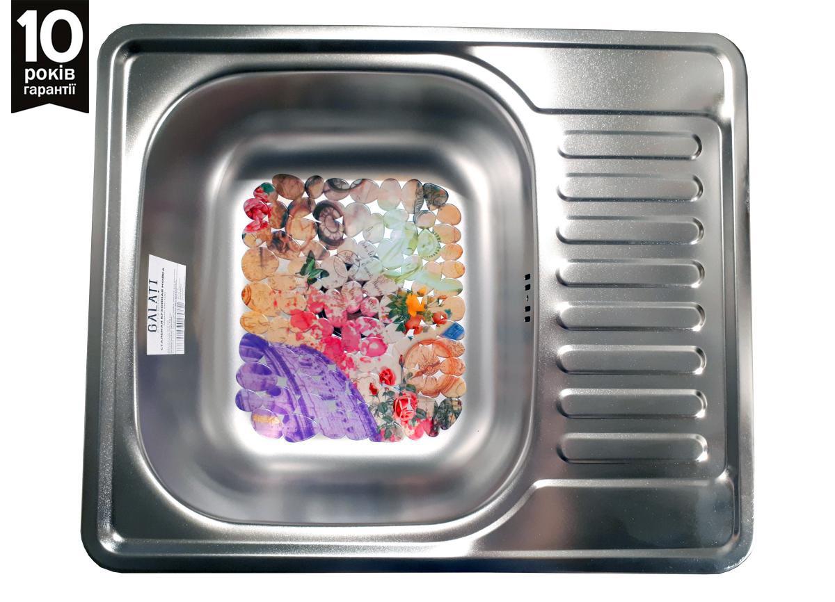 Кухонная квадратная мойка из нержавейки Galati Sims Satin