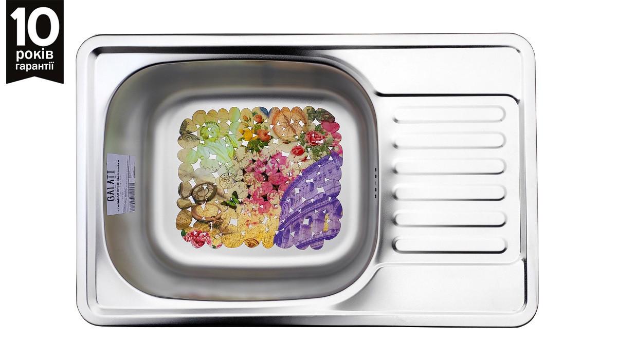 Кухонна мийка з нержавійки Galati Bogna Satin