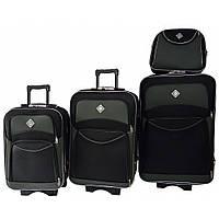 Набір валіз і кейс 4в1 Bonro Style чорно-сірий