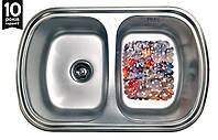 Кухонная мойка двойная из нержавейки Galati Vayorika 2C Satin