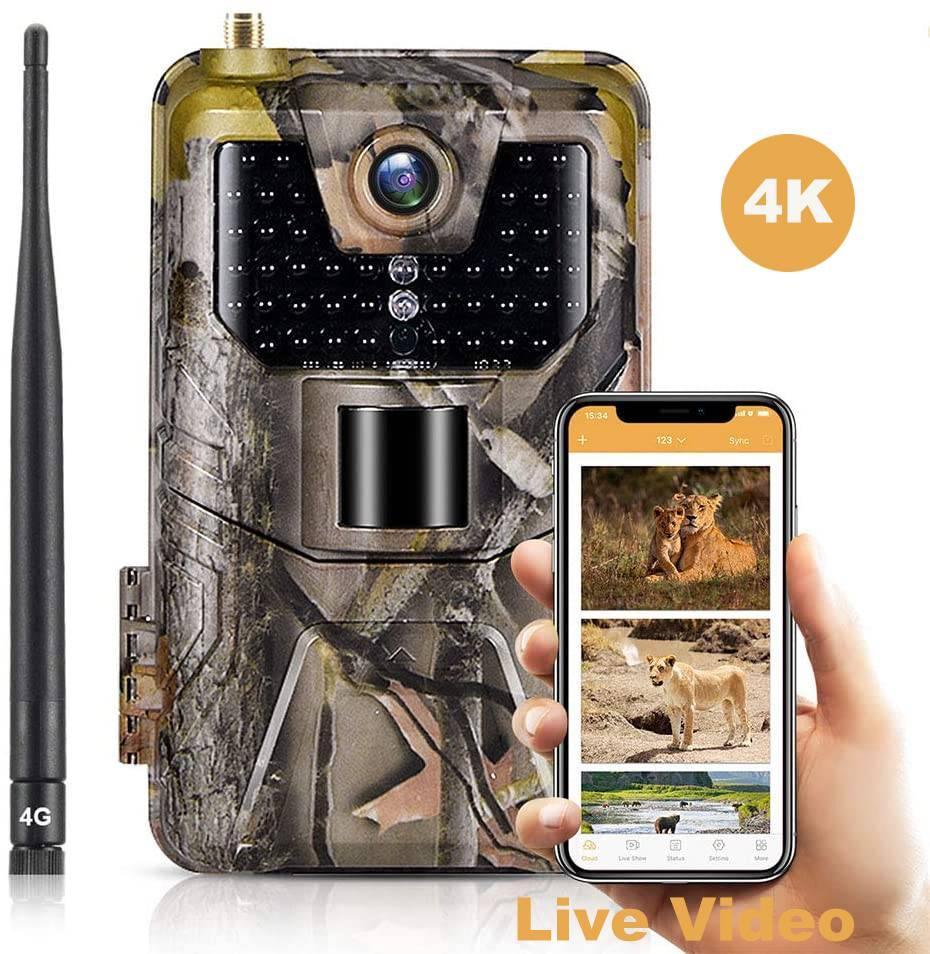 APP / 4G фотоловушка HC900LTE-Live (30Mp, Облако, Онлайн видео)