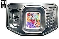 Кухонная мойка на две чаши нержавейка Galati Rampa 1.5C Textura, фото 2