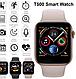 Умные часы смарт браслет розумний годинник T500 Smart Apple watch черные, фото 5