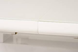 Стол раскладной TM-52-1 120/160 см  МДФ+стекло Белый TM Vetro Mebel, фото 2