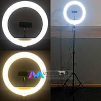 Кольцевая лампа 30 см со штативом на 2м для телефона селфи кольцо световое светодиодное led
