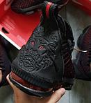 Чоловічі кросівки Nike Air Jordan LeBron 16 (чорно-червоні) 482TP спортивне взуття для баскетболу, фото 3