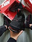 Чоловічі кросівки Nike Air Jordan LeBron 16 (чорно-червоні) 482TP спортивне взуття для баскетболу, фото 10