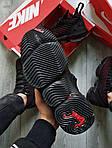 Чоловічі кросівки Nike Air Jordan LeBron 16 (чорно-червоні) 482TP спортивне взуття для баскетболу, фото 9