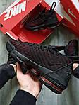 Чоловічі кросівки Nike Air Jordan LeBron 16 (чорно-червоні) 482TP спортивне взуття для баскетболу, фото 6