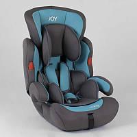 Автокресло для детей JOY NB-4001 цвет серо-голубой, универсальное от 9 до 36 кг, с бустером