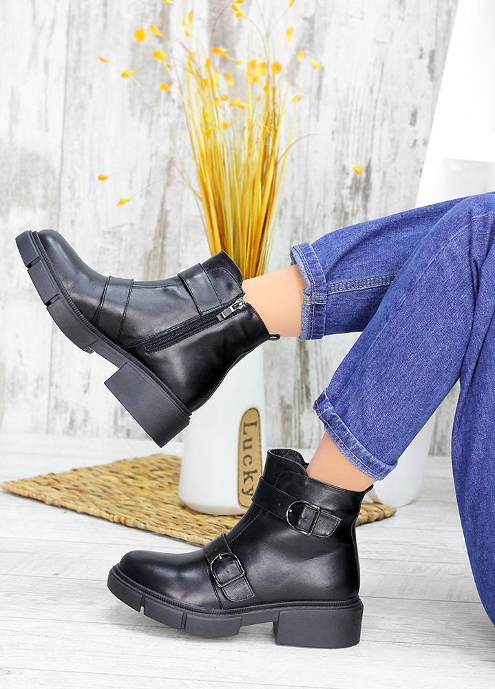 Жіночі зимові чоботи натуральна шкіра