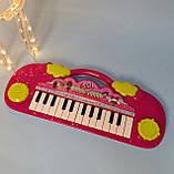 Детский синтезатор ЛОЛ, пианино lol Лол, свет, музыка, на батарейках HY696/697, фото 2