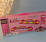 Детский синтезатор ЛОЛ, пианино lol Лол, свет, музыка, на батарейках HY696/697, фото 4
