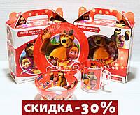 """Детский Набор Посуды """"Маша И Медведь"""" 3 Предмета"""