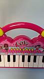 Детский синтезатор ЛОЛ, пианино lol Лол, свет, музыка, на батарейках HY696/697, фото 3