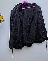 Шкіряна куртка колір коричневий із фіотетовим відтінком Розмір  L ( Б-23), фото 2