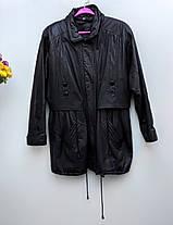 Шкіряна куртка колір коричневий із фіотетовим відтінком Розмір  L ( Б-23), фото 3