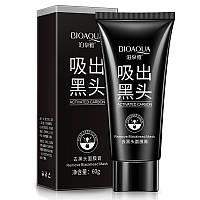 Черная маска-пленка с активированным углем от черных точек Biaqua Activated Carbon Remove Blackhead Mask, 60г