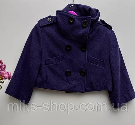 Кашемірове коротеньке пальто Розмір S ( Б-227), фото 2