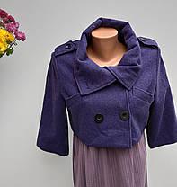 Кашемірове коротеньке пальто Розмір S ( Б-227), фото 3