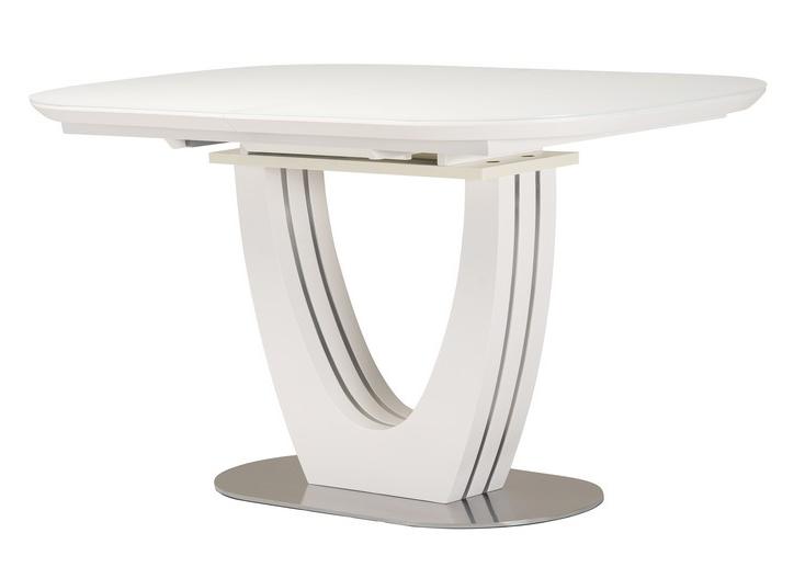 Стол раскладной  TML-765 140-180см МДФ+стекло Белый TM Vetro Mebel