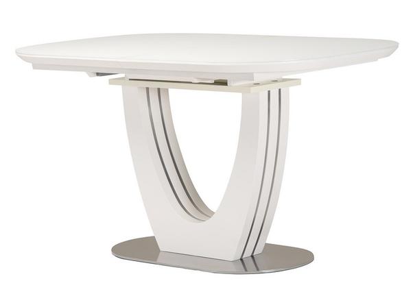 Стол раскладной  TML-765 140-180см МДФ+стекло Белый TM Vetro Mebel, фото 2
