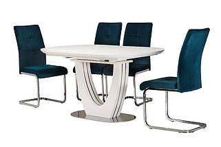 Стол раскладной  TML-765 140-180см МДФ+стекло Белый TM Vetro Mebel, фото 3