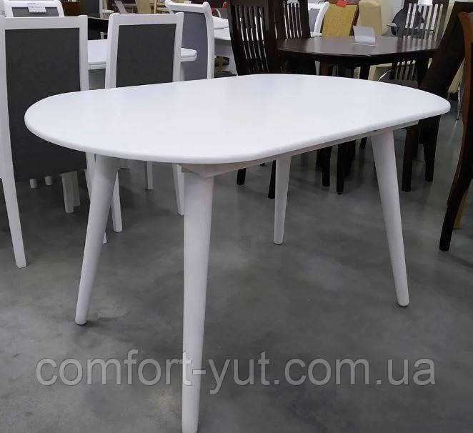 Стол Патрик белый 129(+34)*81 обеденный раскладной деревянный