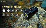 Сверхмощный наключный фонарь с OLED дисплеем Nitecore TUP (1000LM, 1200mAh, USB, Cree XP-L HD V6), Серый, фото 4