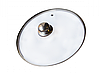 Стеклянная крышка, Крышка стеклянная с металлическим ободком, Ø 22 см