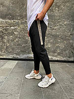 Спортивные штаны мужские с светоотражающей полоской сбоку
