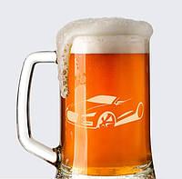 Пивной бокал с гравировкой авто