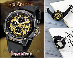 Часы оригинальные мужские наручные кварцевые  Megalith 8231M Black-Gold