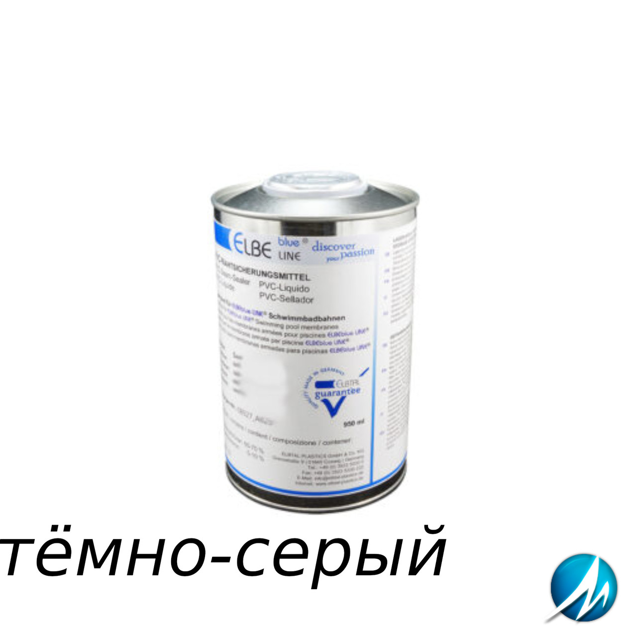 Жидкий ПВХ-герметик для швов Elbtal Plastics SUPRA dark grey тёмно-серый, цвет 782