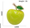 Брошь брошка пин значок металл качество!зеленое яблоко обьемное, фото 8