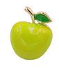 Брошь брошка пин значок металл качество!зеленое яблоко обьемное, фото 7