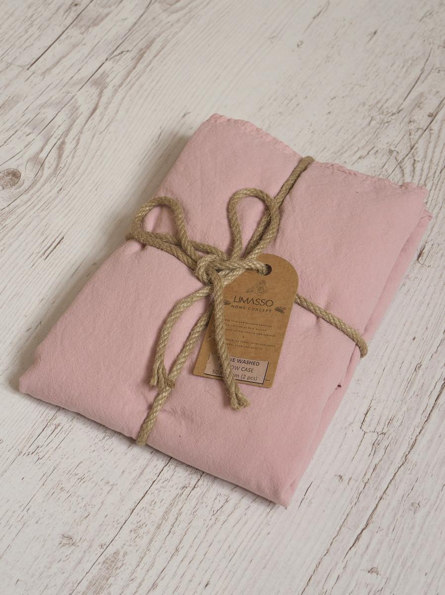 Наволочка 50x70(2шт.) LIMASSO PALE MAVUE STANDART розовая