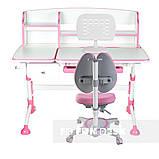Комплект підліткова парта для школи FunDesk Amare II Pink+ортопедичне крісло FunDesk Primavera II Pink, фото 2