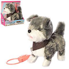 Собака MP 2130-2 д/у (поводок), 24 см