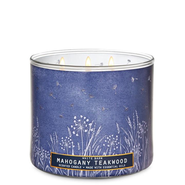 Свеча ароматизированная Bath and Body Works Mahogany Teakwood Scented Candle 411 г