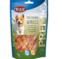 Лакомство для собак Premio Fish Chicken Wheels Trixie 31748 75гр