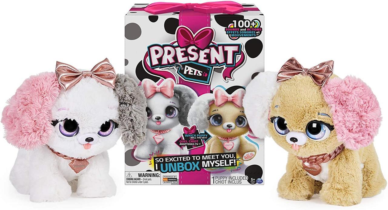Интерактивная игрушка щенок сюрприз милашки Present Pets Fancy Puppy Interactive Plush 6051191
