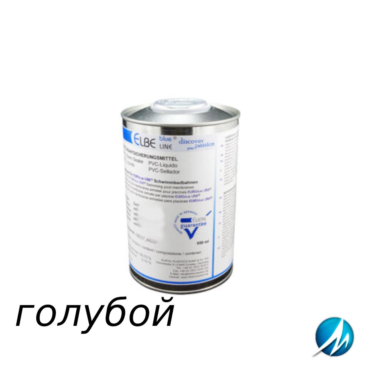 Жидкий ПВХ-герметик для швов Elbtal Plastics SUPRA light blue голубой, цвет 687