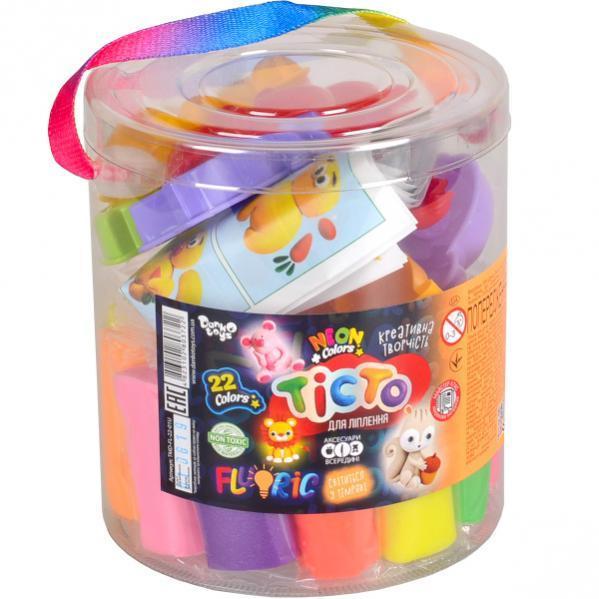 Креативна творчість «Тісто для ліплення «FLUORIC» туба 22 кольори