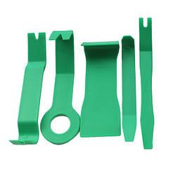 Комплект инструмента для снятия панелей салона ZIRY 5 pcs green