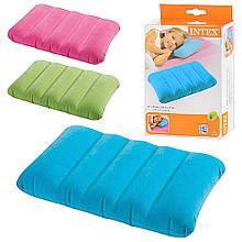 Надувная велюровая прямоугольная подушка Intex 68676 NP (43х28х9 см), 4 цвета