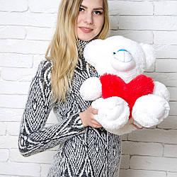 Плюшевые медведи: Плюшевый медвежонок Тини 0,5 метра (50 см), Белый
