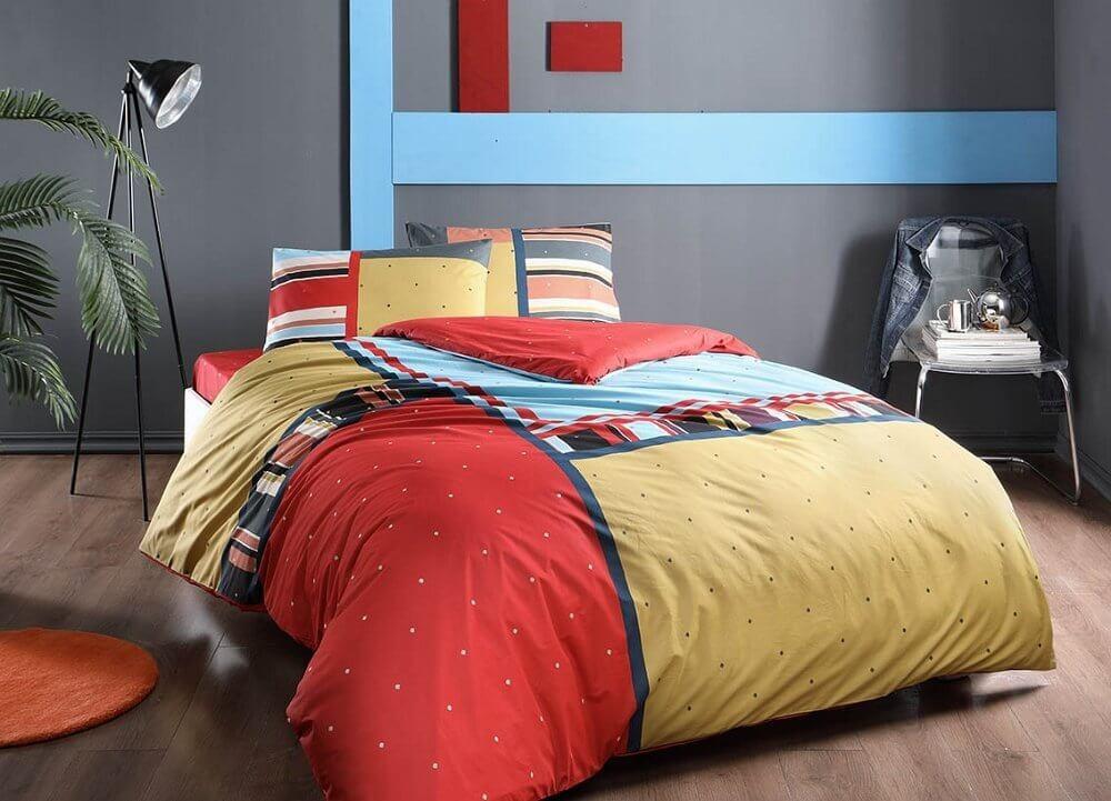 Двуспальный евро комплект TAC Dexter Ранфорс / простынь на резинке (60229788)