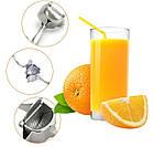 Соковыжималка ручная для фруктов с зажимом Hand Juicer | Механическая соковыжималка | Сокодавка, фото 2